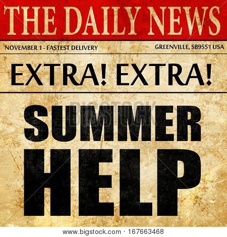 summer help, newspaper article text