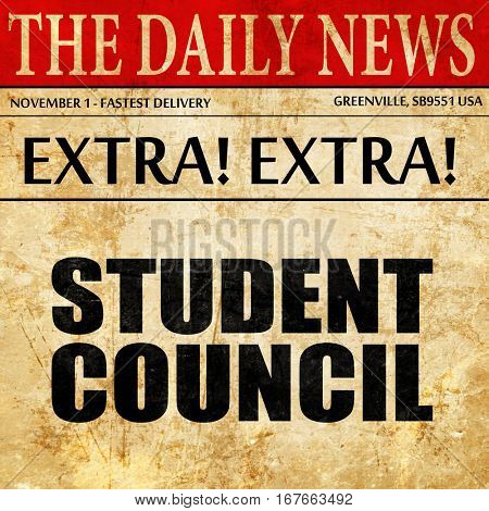 student council, newspaper article text