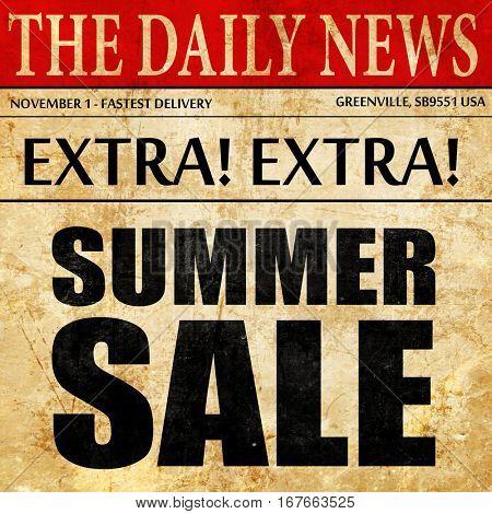 summer sale, newspaper article text