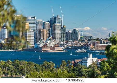 Beautiful View Of Sydney Cbd And Sydney Opera House