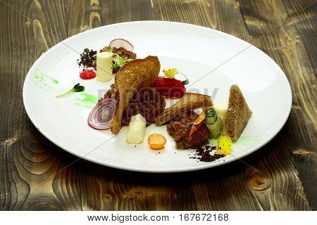 Delicious Snack Or Cold Dish