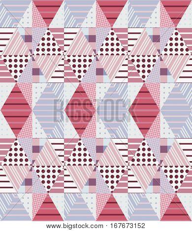 Ethnic Seamless Patchwork Pattern. Geometric Tribal Ornament. Golf Design.