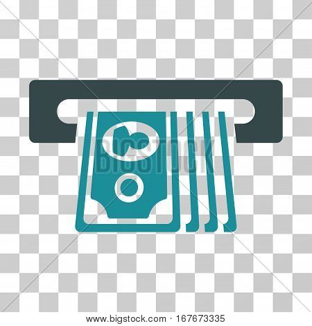 ATM Insert Cash icon. Vector illustration style is flat iconic bicolor symbol soft blue colors transparent background. Designed for web and software interfaces.