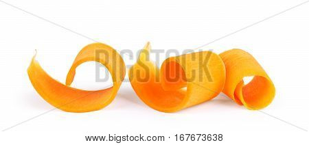 Slices of pumpkin isolated on white background