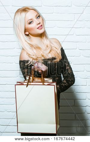 Pretty Girl With Shopping Bag