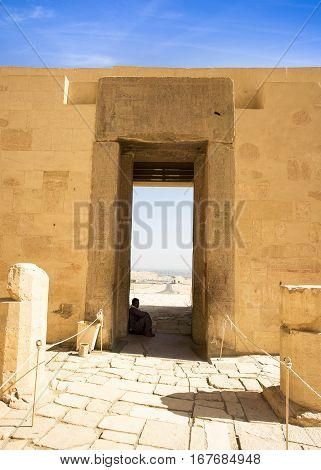 LUXOR, EGYPT - NOVEMBER 13, 2016: Ancient ruins of the great temple of Hatshepsut, Karnak temple, Egypt, Luxor, 13 November, 2016