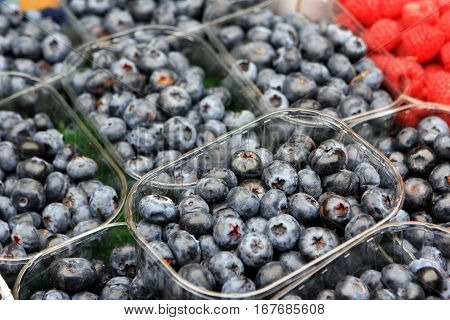 Berries at the farmers market, Vienna, Austria