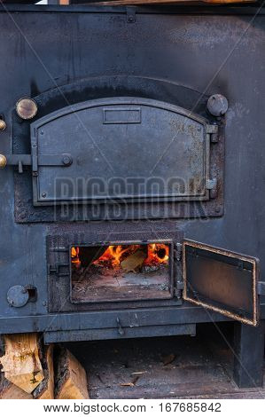 German mobile field kitchen oven also for military purposes goulash gun called.