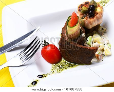 Meat Dish With Garlic