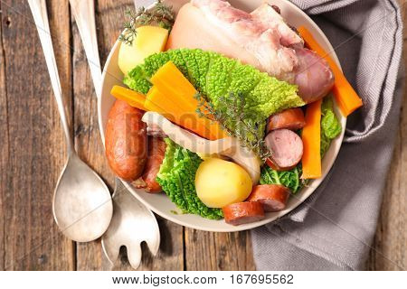 vegetable and meats
