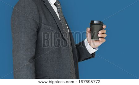 Business Man Coffee Side Concept