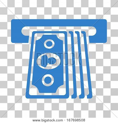 Cashpoint Terminal icon. Vector illustration style is flat iconic symbol cobalt color transparent background. Designed for web and software interfaces.