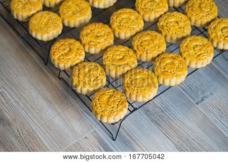 Moon Cake, Food For Chinese Lunar Mid-autumn Festival