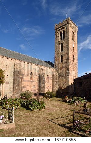 Romanesque Church of Santa Maria of Coustouges Languedoc-Rosellón France
