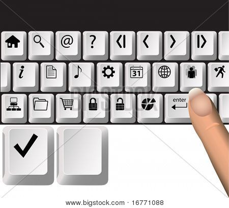 Computer Keyboard Key Icons: move & mix layers, they icons look good on white or black