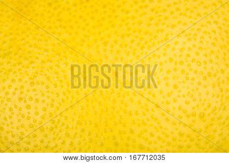 Close Up Of Lemon Or Pamela Texture Peel Or Zest.