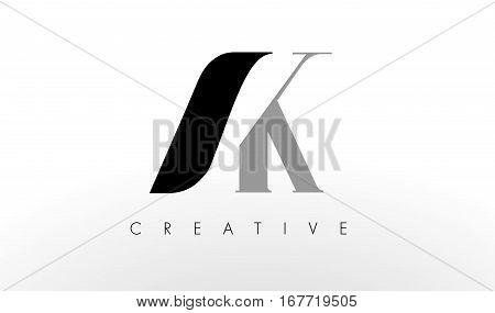 A K Letter Logo Design. Creative Modern AK Letters Icon Illustration.
