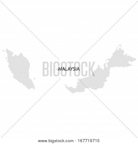 Territory Of Malaysia On A White Background