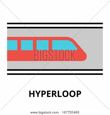 Modern flat editable vector line icon of future technology - hyperloop for graphic and web design