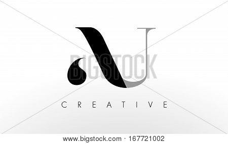 A U Letter Logo Design. Creative Modern AU Letters Icon Illustration.