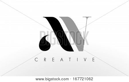 A V Letter Logo Design. Creative Modern AV Letters Icon Illustration.