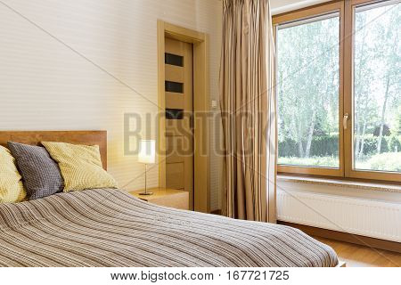 Bedroom Interior With Marital Bed