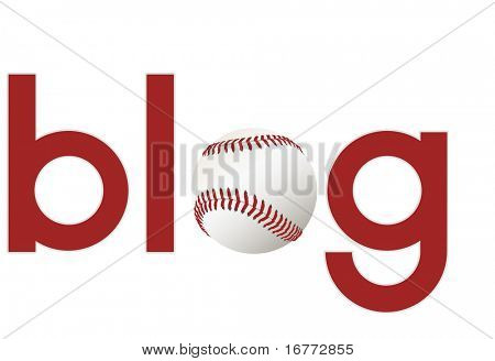 The word blog with a baseball as the O for your sports blogs.
