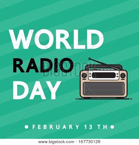 World radio day vector cartoon design for International day.
