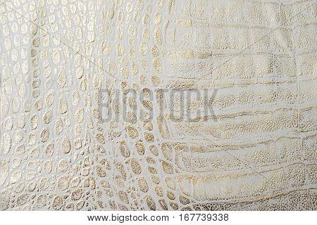 White leather texture background. Craftsman work desk .