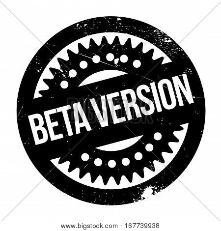 Beta version stamp. Grunge design with dust scratches. Effects can be easily removed for a clean, crisp look. Color is easily changed.