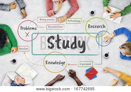 School education study process diagram
