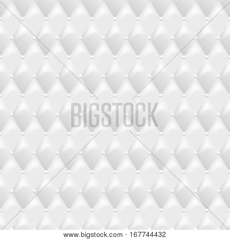 Seamless White Leather Texture Vector Background Luxury Textile Design