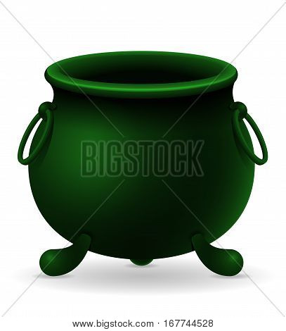 saint patrick's day cauldron stock vector illustration isolated on white background