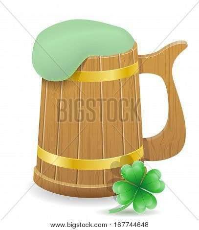 saint patrick's day beer mug stock vector illustration isolated on white background