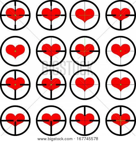 heart , targeted at heart , target , vector ,