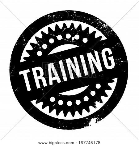 Training stamp. Grunge design with dust scratches. Effects can be easily removed for a clean, crisp look. Color is easily changed.