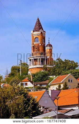 Gardos Tower in Zemun - Belgrade Serbia - architecture travel background poster