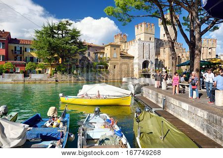Sirmione, Italy - September 19, 2016: Beautiful Views Of Sirmione, A Comune In Brescia