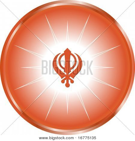 The Khanda is one of most important symbols of Sikhism alongside the Ik Onkar (Ek Onkar), It is commonly found on the Nishan sahib or flag of the Sikhs,