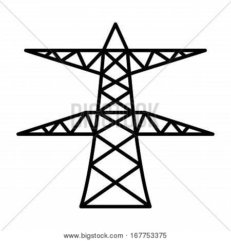 simple thin line power pole icon vector