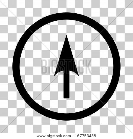 Arrow Axis Y rounded icon. Vector illustration style is flat iconic symbol inside a circle, black color, transparent background. Designed for web and software interfaces.