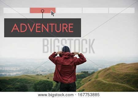 Adventure Destination Discovery Travel Exploration Vacation Icon