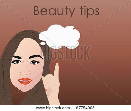 beauty tips art background, illustration in vector format