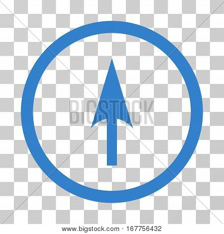 Arrow Axis Y rounded icon. Vector illustration style is flat iconic symbol inside a circle, cobalt color, transparent background. Designed for web and software interfaces.