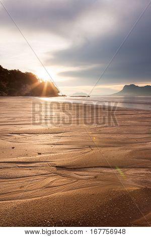 Beach at bako national park malaysia borneo