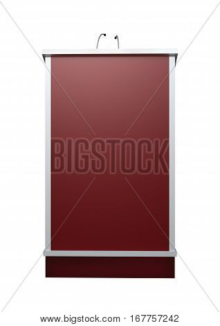 3D Rendering Lectern On White