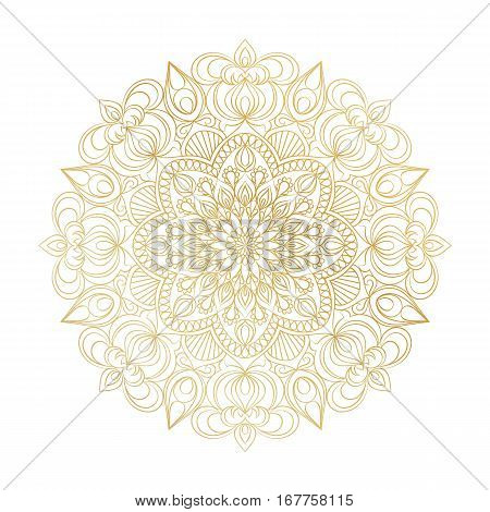 Vector Mandala ornament. Vintage decorative elements. Oriental  round pattern. Islam, Arabic, Indian, turkish, pakistan, chinese, ottoman motifs. Hand drawn floral background.
