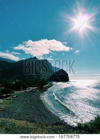 mountains and the sea, canary islands spain san nicolas