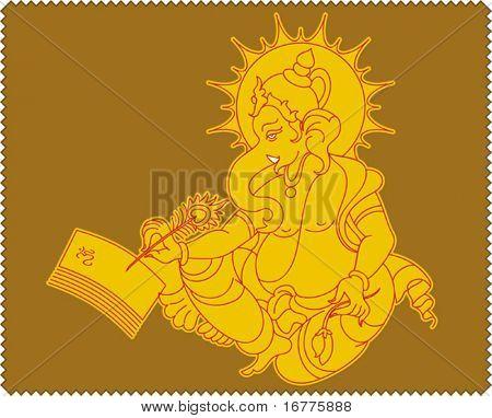 Shree Ganesh writing on paper