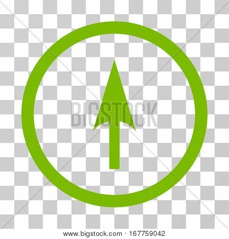 Arrow Axis Y rounded icon. Vector illustration style is flat iconic symbol inside a circle, eco green color, transparent background. Designed for web and software interfaces.